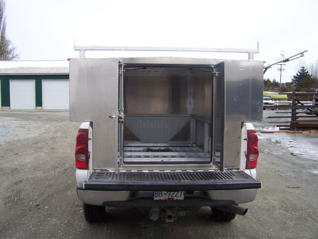 GTL slip in canopy GMC rear view